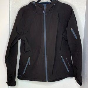 Black Diamond hooded fleece lined zip up jacket